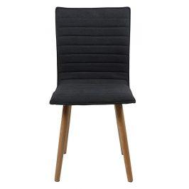 SCANDI Tmavě šedá látková jídelní židle Frida