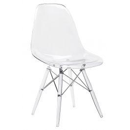 Culty Transparentní plastová jídelní židle DSW