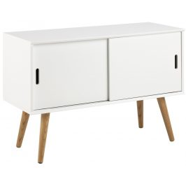 SCANDI Bílá skříňka Marika 100 x 38 cm