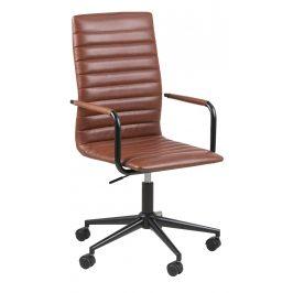 SCANDI Hnědá čalouněná konferenční židle Aqua Židle do kuchyně