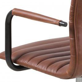 SCANDI Hnědá čalouněná konferenční židle Aqua