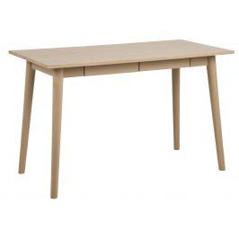 SCANDI Přírodní dubový pracovní stůl Maryt 120x60 cm