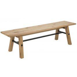 SCANDI Přírodní dubová jídelní lavice Kiruna 170 cm