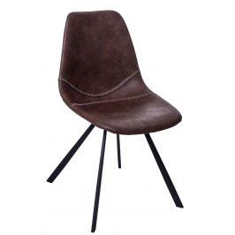 Culty Hnědá kožená jídelní židle Vin