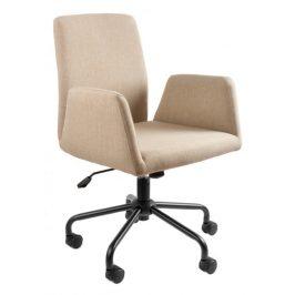 OfficeLab Béžová konferenční židle Bela na kolečkách