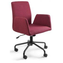 OfficeLab Červená konferenční židle Bela na kolečkách