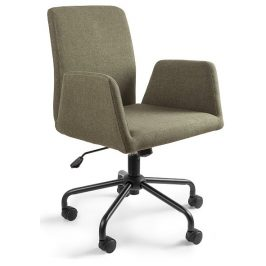 OfficeLab Zelená konferenční židle Bela na kolečkách