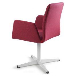 OfficeLab Červená konferenční židle Bela s pevnou kovovou základnou