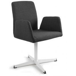 OfficeLab Černá konferenční židle Bela s pevnou kovovou základnou