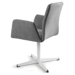 OfficeLab Šedá konferenční židle Bela s pevnou kovovou základnou