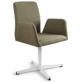 OfficeLab Zelená konferenční židle Bela s pevnou kovovou základnou