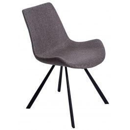 Culty Šedá polstrovaná židle Skip s kovovou podnoží Židle do kuchyně