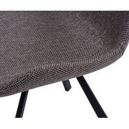 Culty Šedá polstrovaná židle Skip s kovovou podnoží