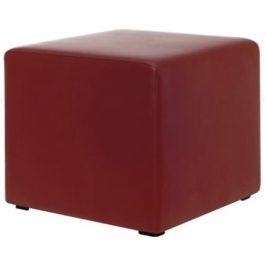 MARBET STYLE Tmavě červený taburet MARBET MIA CUBE