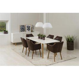 SCANDI Čokoládová čalouněná židle Marte s područkami