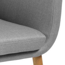 SCANDI Světle šedá látková židle Marte s područkami