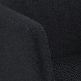 SCANDI Antracitová látková židle Marte s područkami