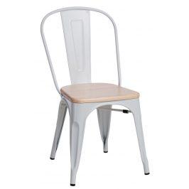 Culty Jídelní židle Tolix 45, bílá/borovice