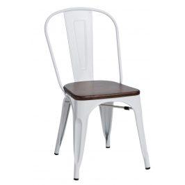 Culty Jídelní židle Tolix 45, bílá/ořech