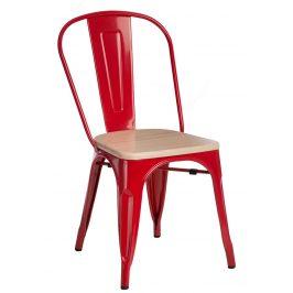 Culty Jídelní židle Tolix 45, červená/borovice