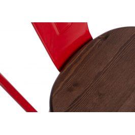 Culty Jídelní židle Tolix 45, červená/ořech
