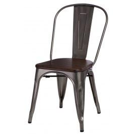 Culty Jídelní židle Tolix 45, metalická/ořech