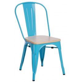 Culty Jídelní židle Tolix 45, modrá borovice