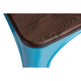 Culty Jídelní židle Tolix 45, modrá/ořech