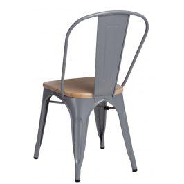 Culty Jídelní židle Tolix 45, šedá/borovice