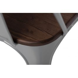 Culty Jídelní židle Tolix 45, šedá/ořech