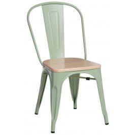 Culty Jídelní židle Tolix 45, zelená/borovice Židle do kuchyně