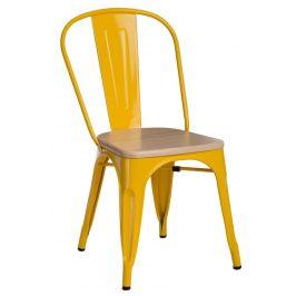Culty Jídelní židle Tolix 45, žlutá/borovice