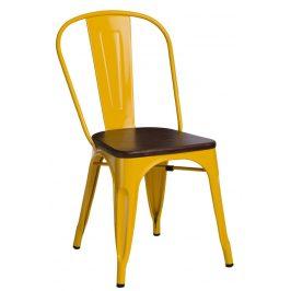 Culty Jídelní židle Tolix 45, žlutá/ořech