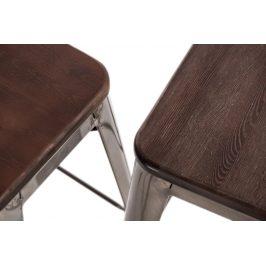 Culty Jídelní židle Tolix 45 s područkami, černá/ořech