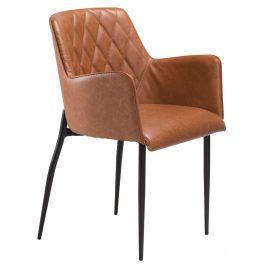 DAN-FORM Koňakově hnědá čalouněná židle DanForm Rombo