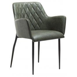 DAN-FORM Zelená čalouněná vintage židle DanForm Rombo