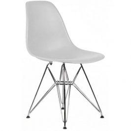Culty Světle šedá plastová židle DSR