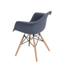 Culty Designová židle DAW, tmavě šedá