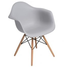 Culty Designová židle DAW, světle šedá