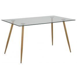 SCANDI Skleněný jídelní stůl Wanda 140 cm