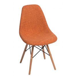 Culty Oranžovošedá celočalouněná židle DSW
