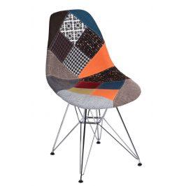 Culty Celočalouněná židle DSR v provedení patchwork
