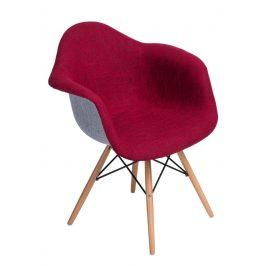 Culty Designová židle DAW čalouněná, červená/šedá
