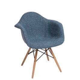 Culty Designová židle DAW čalouněná, modrá/šedá