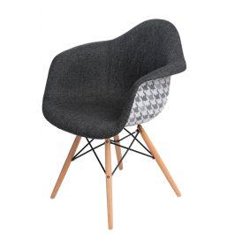 Culty Designová židle DAW čalouněná, šedá/kohoutí stopa