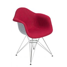 Culty Červeno šedá čalouněná židle DAR