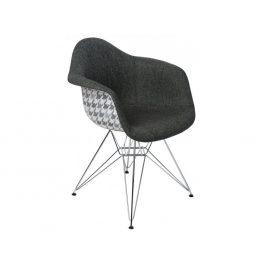Culty Šedá čalouněná židle DAR