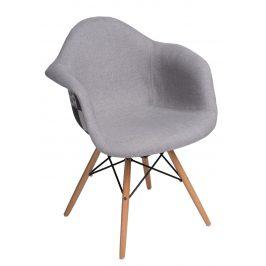 Culty Designová židle DAW čalouněná, světle šedá