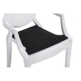 Culty Tmavě šedý podsedák na židli Ghost