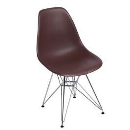 Culty Hnědá plastová židle DSR